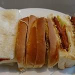 クウェッション - 料理写真:ハムカツサンド(単品は530円  セットはドリンク付きで740円)