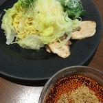 つけ麺本舗 辛部 - 料理写真:つけ麺普通盛(辛さ10倍)