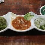 府中Dining&Bar レストハウス - 三種の海鮮つまみはお通し的に最初に頼めばよいかも。