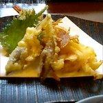菜膳 わたすげ - わたすげ菜膳コースの天ぷら