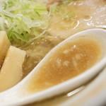 麺や 玄鳥 - スープ