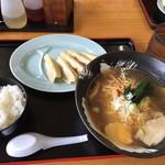 産直 大地 - ラーメン定食(飛魚ラーメン)全景