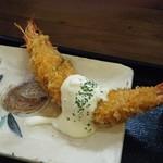 千里食堂 - 日曜日の日替りD(エビフライ)