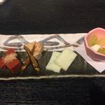 日本酒と魚串 松吉 - 突出し