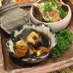 来人喜人 - カツオの梅煮と、サザエの壷焼きキモ付き