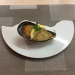 リストランテ マツシマ - ムール貝のチーズパン粉焼き