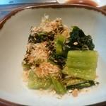 69111222 - 広島菜漬300円。良い塩梅でさっぱりしてて美味しい。