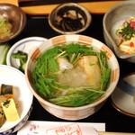 山ぶきの里 - 揚げ餅セット700円