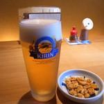 69112969 - 生ビールとお通し