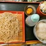 瀬谷そば - とろろ丼セット750円麺大盛りで120円
