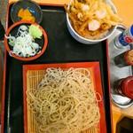 瀬谷そば - かき揚げ丼セット750円