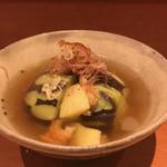 料理屋 月光 - 賀茂茄子の冥加煮