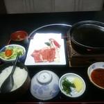 開花亭 - 牛ロース焼定食