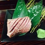 個室焼肉ひごや - 黒毛和牛厚切り上カルビ