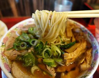 本家 第一旭 たかばし本店 - メンマラーメン 麺リフトUp