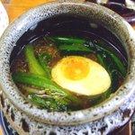 梅公 - 濃コク温つけ麺のスープ