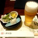 土佐料理 祢保希 - 生ビール:700円