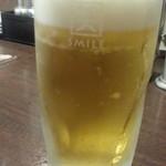 やきとり家すみれ - 生ビールは一番搾り通常390円が190円