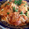 ビアンコ - 料理写真:エビのトマトソースパスタ
