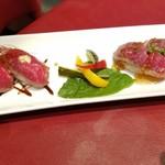 田町 大人のハンバーグ - 黒毛和牛のお寿司