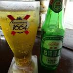 淡水長堤 - ドリンク写真:台湾ビール(120元)