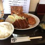 とんかつ ひろ喜 - ハーフミックス定食
