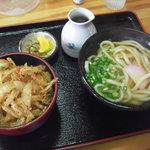 うどん いずみ家 - 料理写真:かき揚丼セット 650円