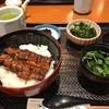 鰻のたちの - 料理写真:うな丼中やったかな?ご飯少なめですが結構あったな〜でも美味しかったから完食でした。