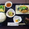 こぶしのさと - 料理写真:本日の日替り定食(味噌チキンカツ・さつま芋サラダ・キビナゴ南蛮)800円