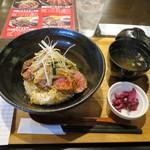 ステーキ食堂BECO - 国産牛ロースステーキ丼(シングル) 950円