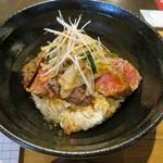 ステーキ食堂BECO - 国産牛ロースステーキ丼(シングル)