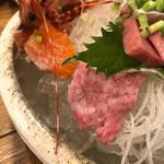ゆうじん - 料理写真:牛刺しおったぁ♪(๑ᴖ◡ᴖ๑)♪