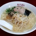 あけぼのラーメン - ラーメン大盛(650円)