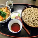 道心 - 職人手打ちせいろと日替わり丼ハーフ(カレー丼)