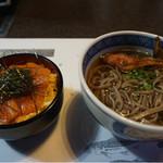 鮎茶屋 かわせ - ビワマス漬け丼とビワマスのカマ蕎麦