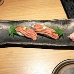 はれや別邸 - 牛トロの炙り寿司