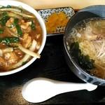 69147329 - 細切り肉丼+ミニラーメン