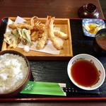 天ぷら なが田 - ランチ 天ぷら定食 870円