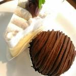 CAFÉ de ROMAN - 【2017/6】チョコモンブラン&モンブランタルト