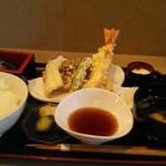 心らん - 天ぷら御膳1100円