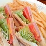 69153835 - ハムチーズサンドイッチ。