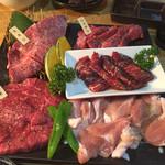 焼肉 和牛専門店 いな蔵のカルビ - 希少部位盛り合わせ梅