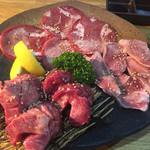 焼肉 和牛専門店 いな蔵のカルビ - タン盛り合わせ