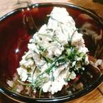 酒と三菜 菜々蔵 - おかひじきシャキシャキ