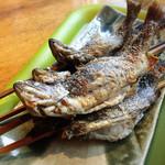 蕎麦太郎CAFE - 塩焼き(自分で釣ったもののみ。焼き代一匹¥200)