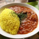 蕎麦太郎CAFE - インドチキンカレー¥800