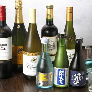 厳選された島根のお酒は、多数用意!