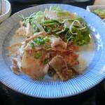 大衆めし 峰 - 料理写真:豚バラニンニク炒め定食