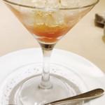 アルポルト神戸 - ブラッドオレンジとリキュールシャーベット