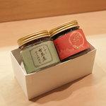 鯛茶の黒ごま(半摺りの胡麻だれ)